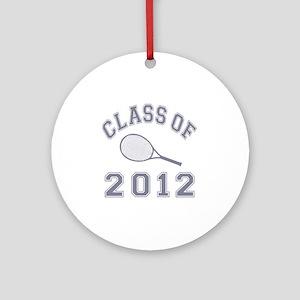 CO2012 Tennis Gray Round Ornament