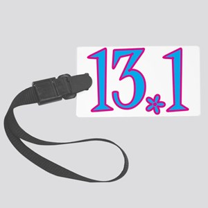 13.1 with flower Large Luggage Tag
