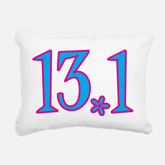 13.1 with flower Rectangular Canvas Pillow