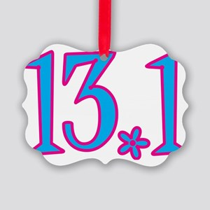 13.1 with flower Picture Ornament