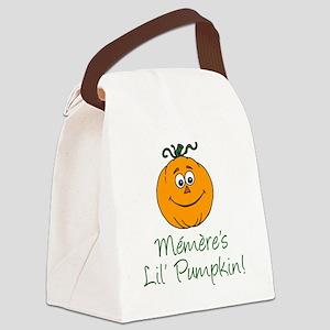Memeres Little Pumpkin Canvas Lunch Bag
