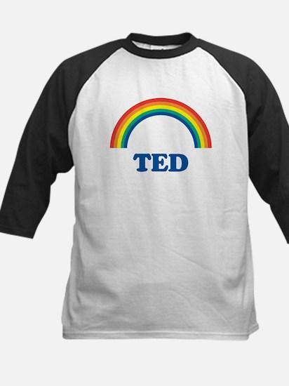 TED (rainbow) Kids Baseball Jersey