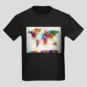 World Map Paint Splashes T-Shirt