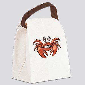 Crabby Crab White SOT Canvas Lunch Bag