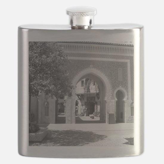Moroccan Gate-BW-M Flask