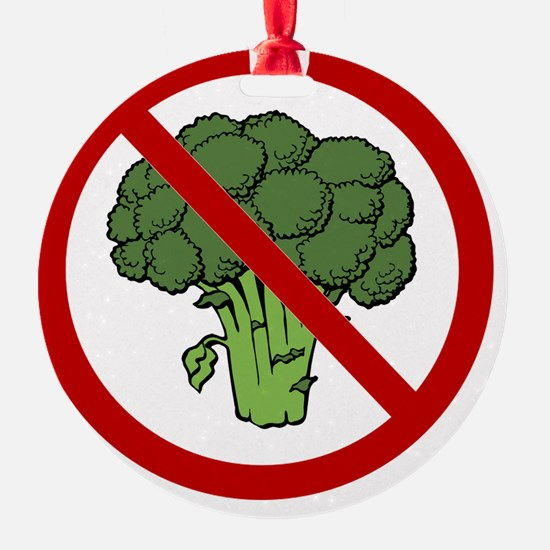 No Broccoli Ornament