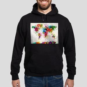 World Map Paint Splashes Sweatshirt