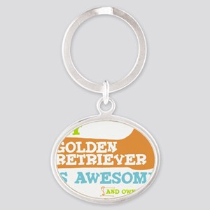 GOld-retr-Thumbs-UP Oval Keychain