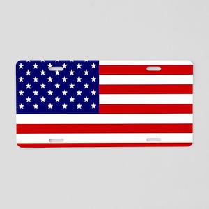 american-flag Aluminum License Plate