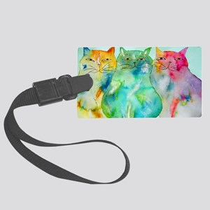 Haleiwa Cats Large Luggage Tag