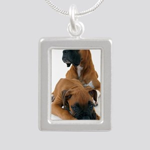 koer 3 Silver Portrait Necklace