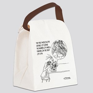 0114_angel_cartoon Canvas Lunch Bag