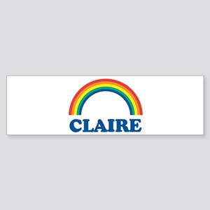 CLAIRE (rainbow) Bumper Sticker
