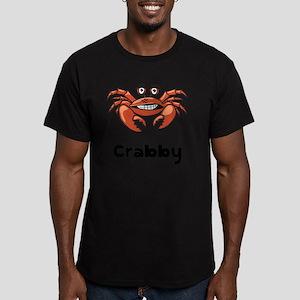 Crabby Crab Black SOT Men's Fitted T-Shirt (dark)