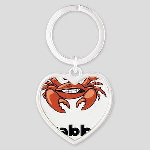 Crabby Crab Black SOT Heart Keychain