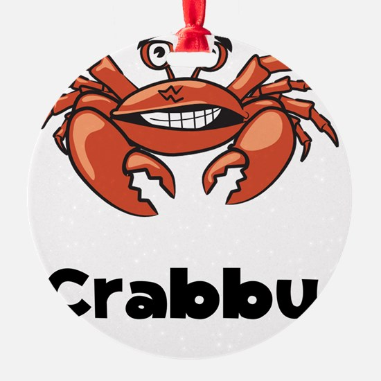 Crabby Crab Black SOT Ornament