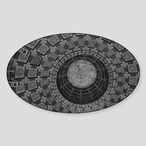 TempleC-BW-M Sticker (Oval)