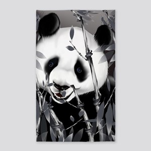 Large PosterpGrey Tone Panda2 3'x5' Area Rug