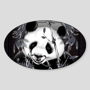 Wall Peel Grey Tone Panda 2 Sticker (Oval)