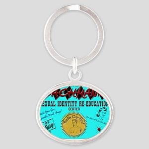 bachmann copy Oval Keychain