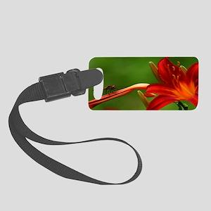 Dragonfly framed print Small Luggage Tag