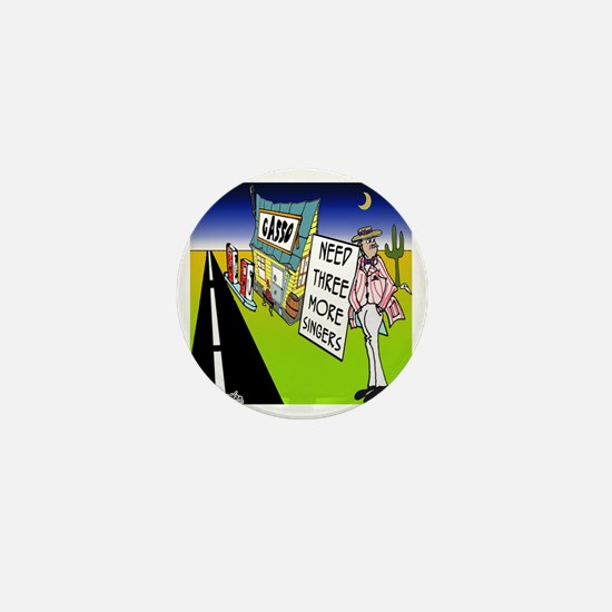7603_quartet_cartoon Mini Button