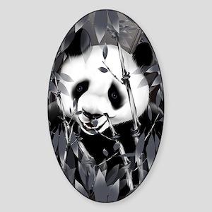 441_iphone_caseGrey Tone Panda Sticker (Oval)