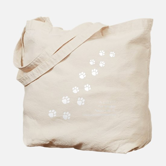 10x10_apparel-paws-blackbg Tote Bag