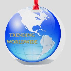 Trending Worldwide Round Ornament