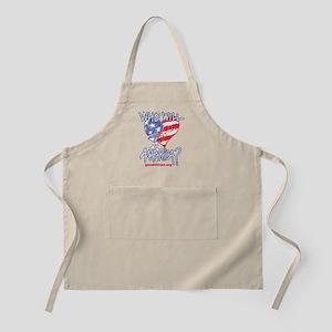 Heart white tee shirt Apron