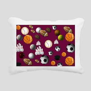 sports_balls Rectangular Canvas Pillow