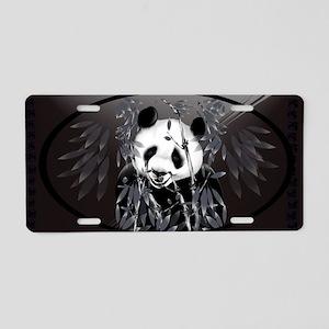 Wall Peel Grey Tone Panda O Aluminum License Plate