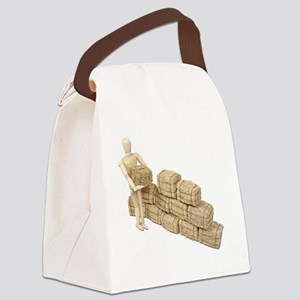 StackingHay070911 Canvas Lunch Bag