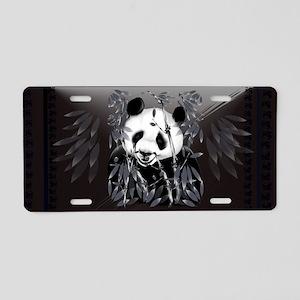Wall Peel Grey Tone Panda Aluminum License Plate