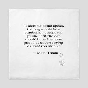 Mark Twain Quote Queen Duvet