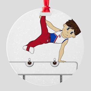 Gymnast Pad2 Round Ornament