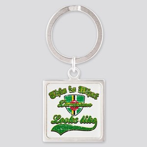 dominican Square Keychain