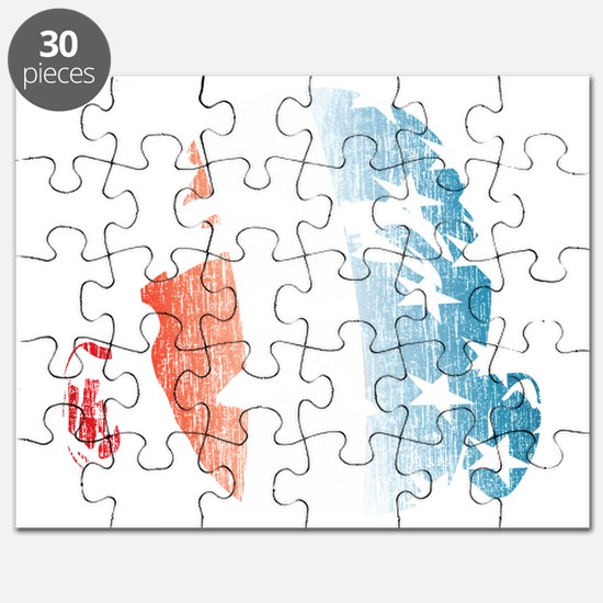 Obama Red, White and Blue 2012 Puzzle