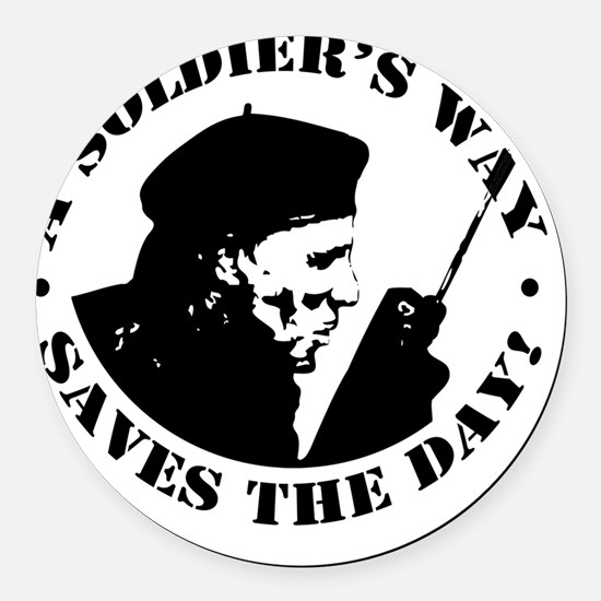 Rumsfield Sillouette Round Car Magnet