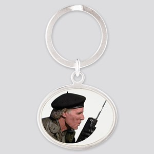 Rumsfield 4 white text Oval Keychain