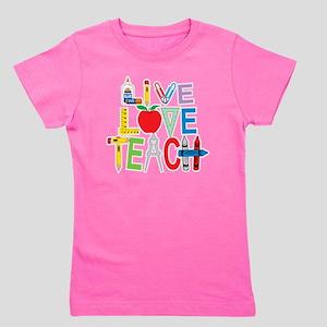 Live-Love-Teach Girl's Tee