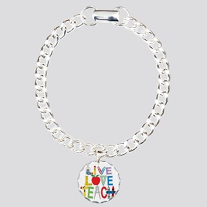 Live-Love-Teach Charm Bracelet, One Charm