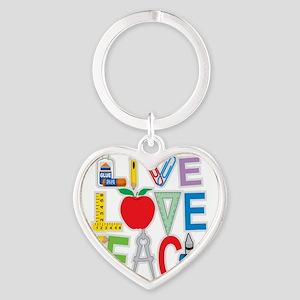 Live-Love-Teach Heart Keychain
