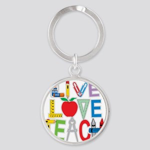 Live-Love-Teach Round Keychain