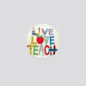Live-Love-Teach Mini Button