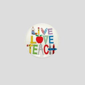 Live-Love-Teach Mini Button
