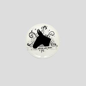 Black Head Logo Mini Button