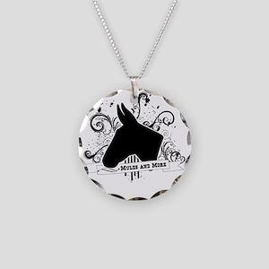 Black Head Logo Necklace Circle Charm