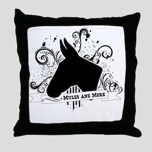 Black Head Logo Throw Pillow