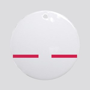 Bold (White) Round Ornament